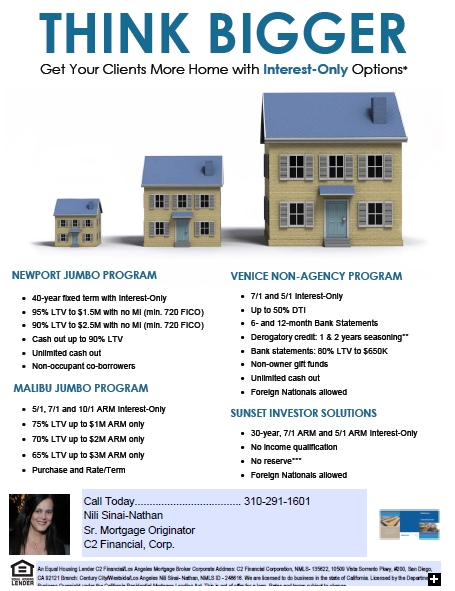 Interest Only Loans Available in Beverly Hills & Century City