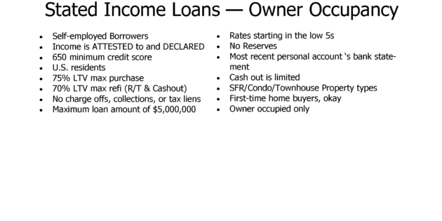 Stated Income Loans Los Angeles